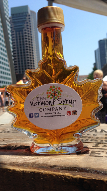 The Vermont Syrup Company will be offering a special on their maple leaf bottle for $7.