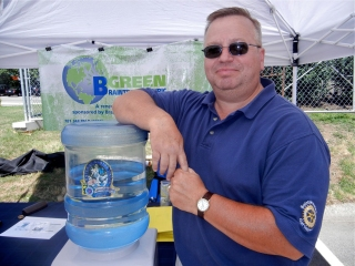 BELD provides complimentary cold water at the market.