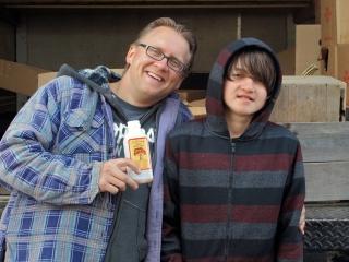 Rob Zukowski and his son Josh from C.N. Smith Farm.