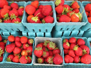 Fresh-picked local strawberries